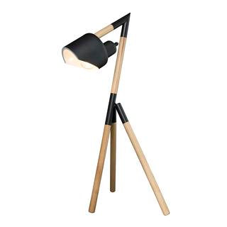 Kyoto 660mm tripod table lamp black/timber