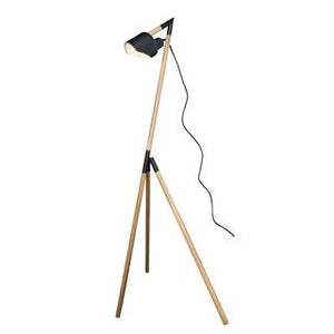 Kyoto 1300mm tripod floor lamp black/timber
