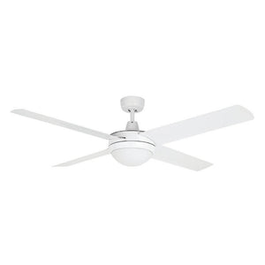 "BRILLIANT TEMPEST ALUMNIUM DC 52"" CEILING FAN WITH CCT LED LIGHT WHITE"