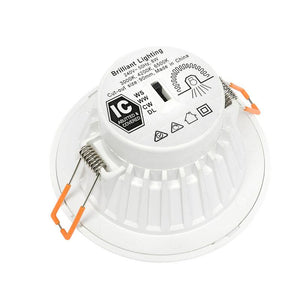 Delta plus 8W colour switch downlight