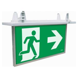 Blade recessed 2W exit sign with 1W emergency downlight