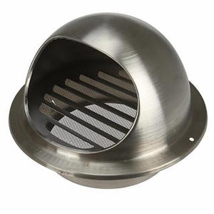Exterior cowl to suit 100mm duct stainless steel 304