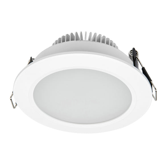 Umbra LED round diffused downlight 10W white frame tri colour