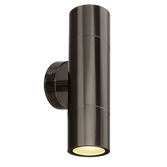 Brilliant Seaford Up/Down Wall Light Gun Metal