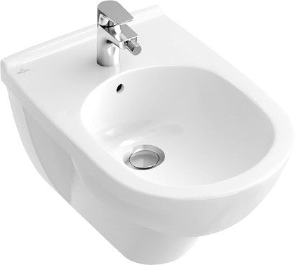 Villeroy and Boch O.novo wall hung 1 tap hole bidet