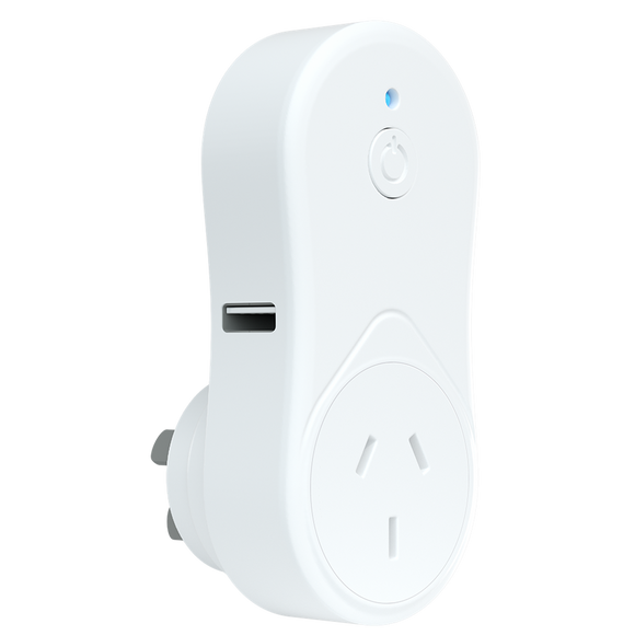 Brilliant Smart Lighting Ireland smart plug with USB charging