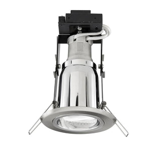 Uni-7 CFL downlight with 20W CFL brushed steel