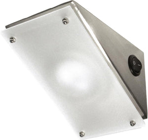 Basel angled cabinet light with frosted glass diffuser