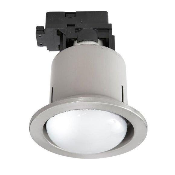 Uni-4 large CFL downlight brushed chrome