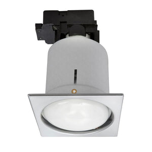 Uni-5 large CFL downlight with R80 CFL brushed steel
