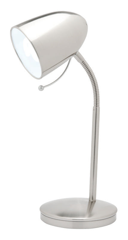 Sara E27 table lamp brushed chrome