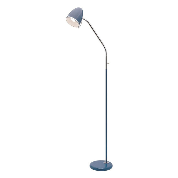 Sara 1 light E27 floor lamp navy