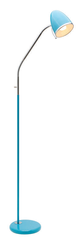 Sara 1 light E27 floor lamp blue