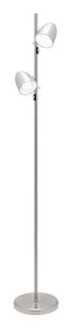 Sara 2 light E27 floor lamp brushed chrome