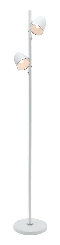 Sara 2 light E27 floor lamp white