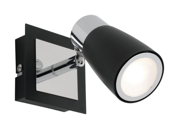 Alecia 1 light spotlight and globe black