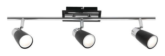 Alecia 3 light spotlight and globe black