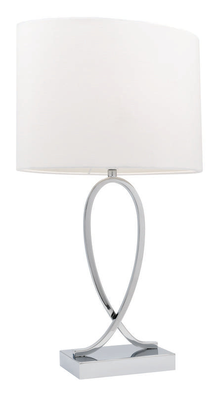 Campbell touch table lamp white