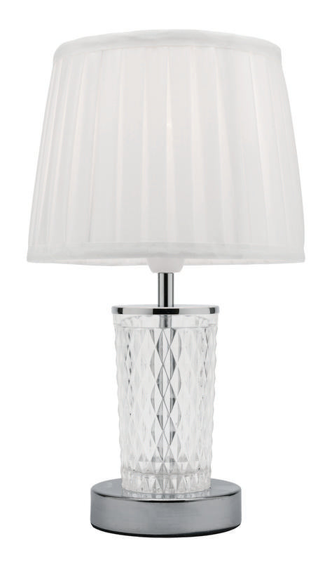 Taryn table lamp brushed chrome