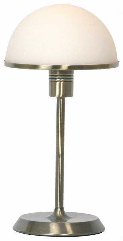 Corona 1 light touch table lamp antique brass