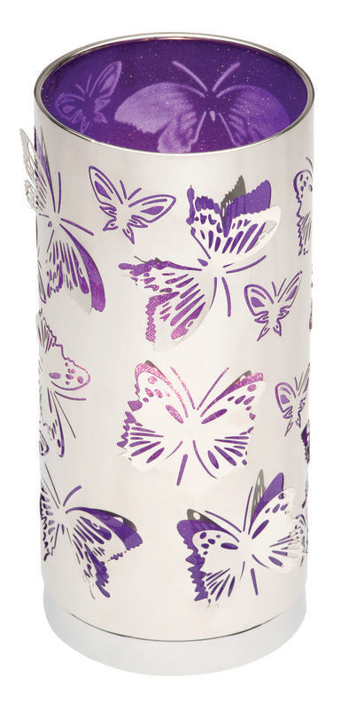 Butterfly touch table lamp purple