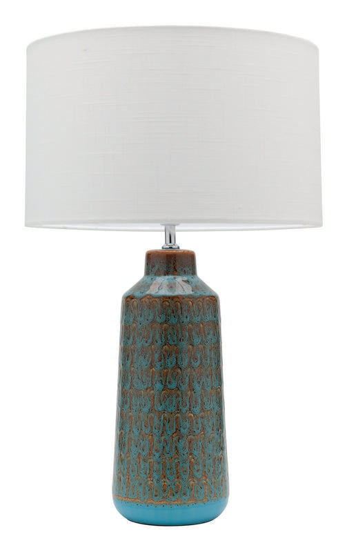 Farrow table lamp blue