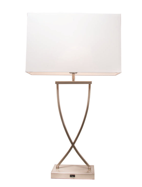 Aristo table lamp brushed chrome