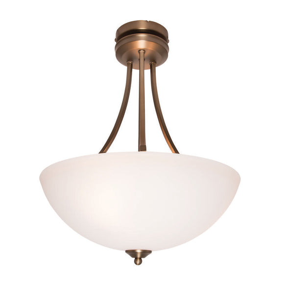 Atlanta 3 light pendant brass