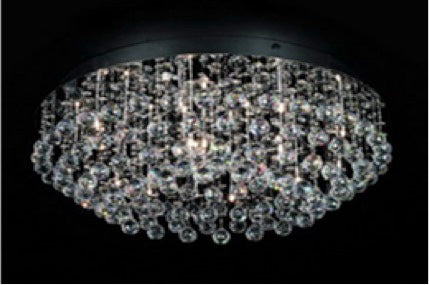 Epic B3104-18 Eco Led Leo Crystal Chrome Ceiling Light