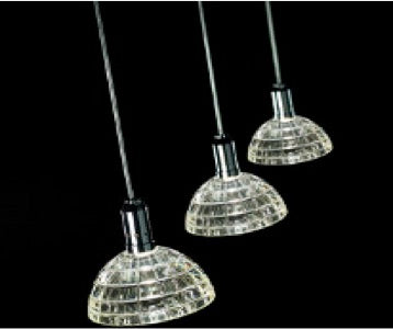 Epic B3111-3  Zara Crystal Pendant 3 Light Bar