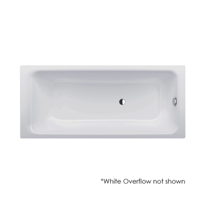 Bette Select Drop In Bath 180x80cm White Overflow Waste and Bath Filler