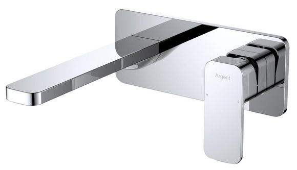 Argent Kubic Wall Mount Basin Mixer Trim 5LPM