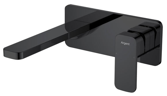 Argent Wall Mount basin mixer Body Soft square Matte Black