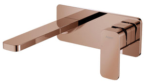 Argent Wall Mount basin mixer Body Soft square Rose Gold