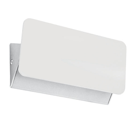 Eclipse 5W LED swivel wall light white