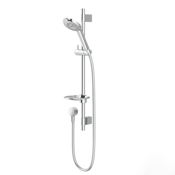 Methven Kiri Satinjet rail shower chrome face