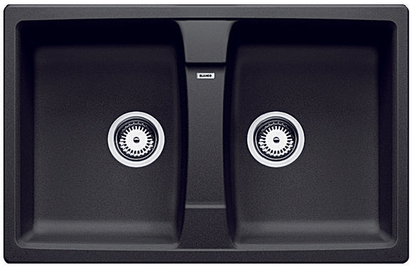 Blanco LEXA8K5 anthracite double bowl inset sink