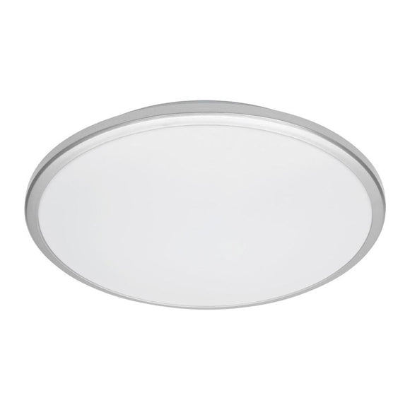Mercator Jazz 28W LED oyster light silver frame daylight