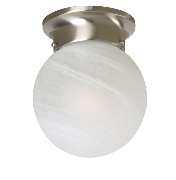 Murano 20 cm alabaster satin nickel