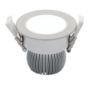 Equinox 2 11W LED fixed downlight silver 3000K