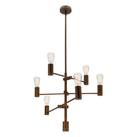 Diaz 6 light pendant brass