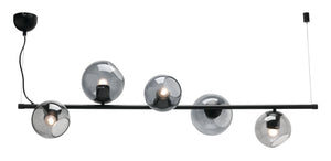 Elena 5 light pendant matt black