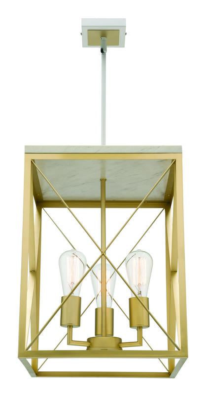 Claudia 3 light lantern pendant gold