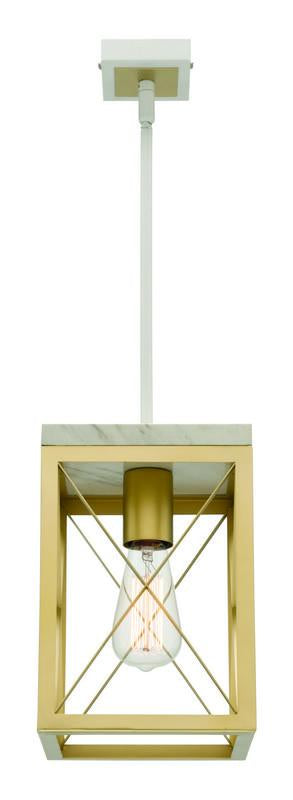 Claudia 1 light pendant gold
