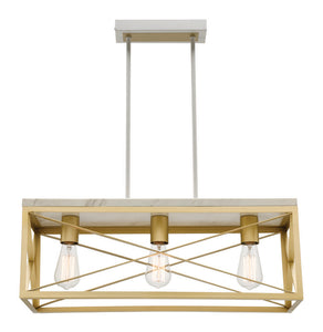 Claudia 3 light bar pendant gold