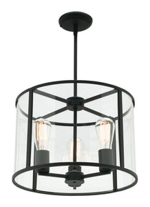 Liverpool 3 light pendant black