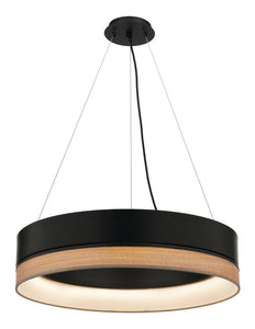 Fitzgerald 24W LED pendant dimmable black