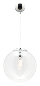 Toledo 1 light pendant 30cm chrome