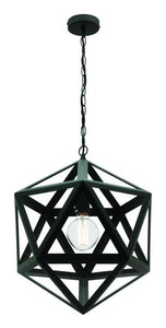 Davi small pendant matt black