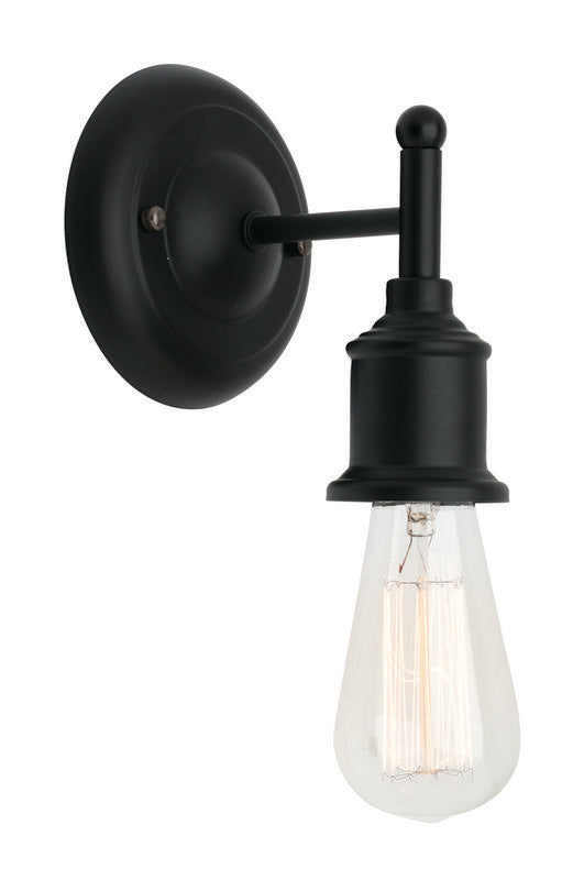 Leona wall lamp black